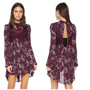 Free People Paisley Lace Tunic Dress